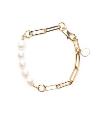 Souvenirs de Pomme Armband Link small with pearls
