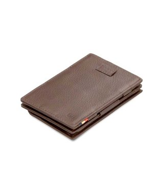 Garzini Portemonnee Cavare Coin pocket Chocolate brown Nappa