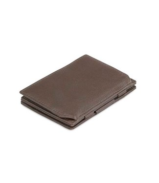 Garzini Portemonnee Essenziale coin pocket Chocolate brown Nappa