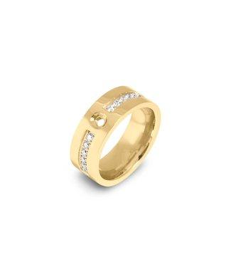 MelanO Twisted flat CZ ring