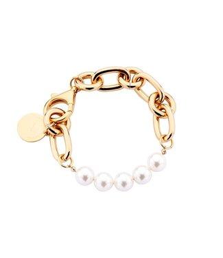 Souvenirs de Pomme Armband Lima medium chain pearl
