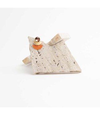 Souvenirs de Pomme Oorring Duo Moon Rust Orange