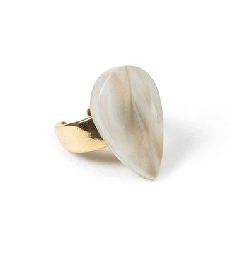 Laurence Delvallez Ring Tweed Beige