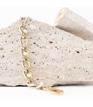 Souvenirs de Pomme Armband Adri chain small pearl