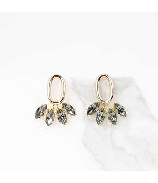 Souvenirs de Pomme Oorring Pippa black diamonds