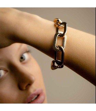 Souvenirs de Pomme Amara statement gold bracelet