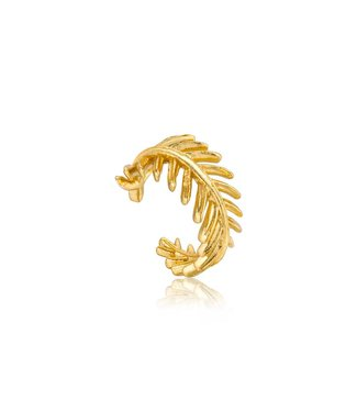 Ania Haie Ear Cuff Gold palm