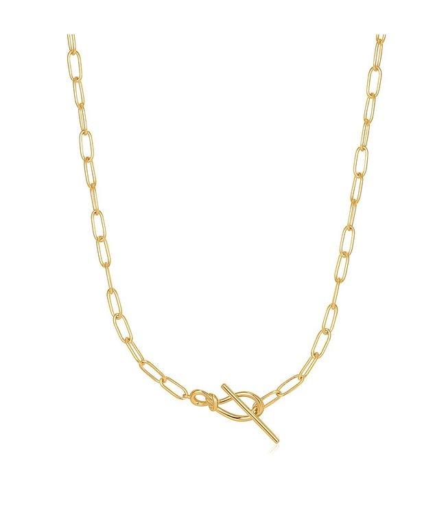 Ania Haie Halsketting Gold Knot T Bar Chain