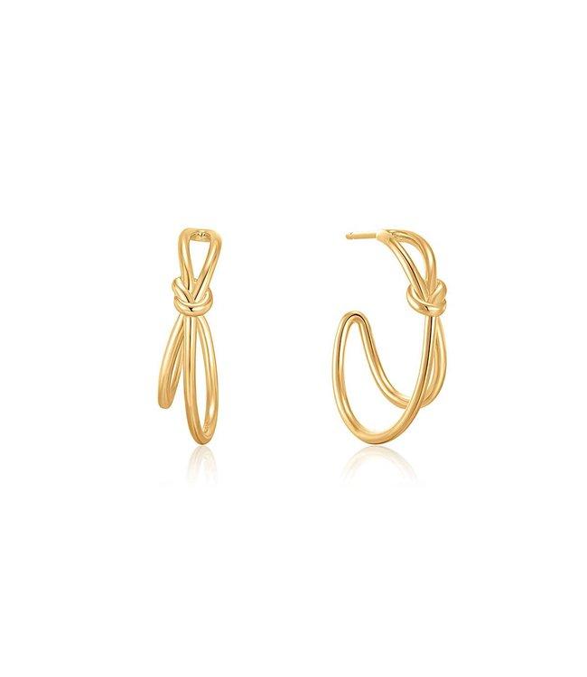 Ania Haie Oorring Gold Knot Stud Hoop