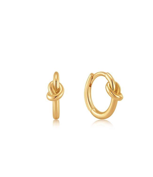 Ania Haie Oorring Gold Knot Huggie Hoop