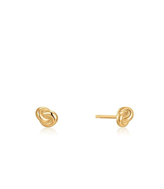 Ania Haie Oorring Gold Knot Stud