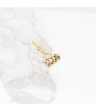 Souvenirs de Pomme Oorring Hoop SINGLE navette crystal swarovski