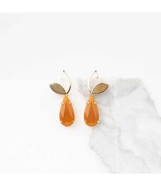 Souvenirs de Pomme Oorringen Iris bridal orange gold