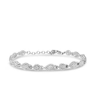 Silver Rose Armband Elize