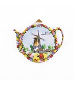 6 stuks Theezakjeshouder tulpenlandschap Holland