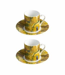 5 stuks Espressoset Zonnebloemen Van Gogh Museum