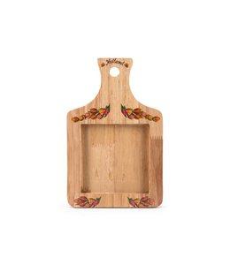 Houten plank 22 x 14 cm tulip