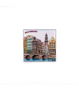Siertegel 10 x 10 cm Color Amsterdam