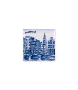 Siertegel 10 x 10 cm Delftsblauw Amsterdam