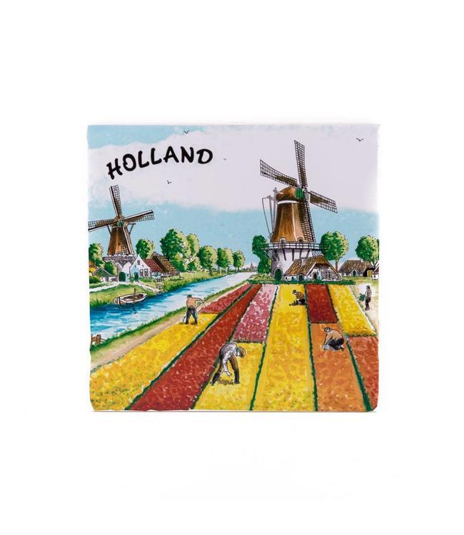 Siertegel 15 x 15 cm Tulips Holland