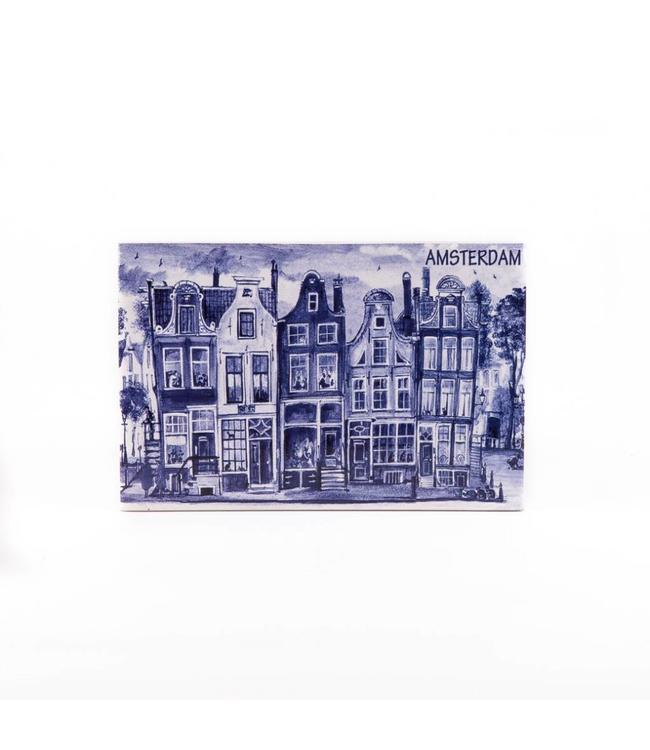 Siertegel 15 x 10 cm Delftsblauw Amsterdam