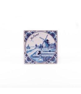 Siertegel 10 x 10 cm Delftsblauw