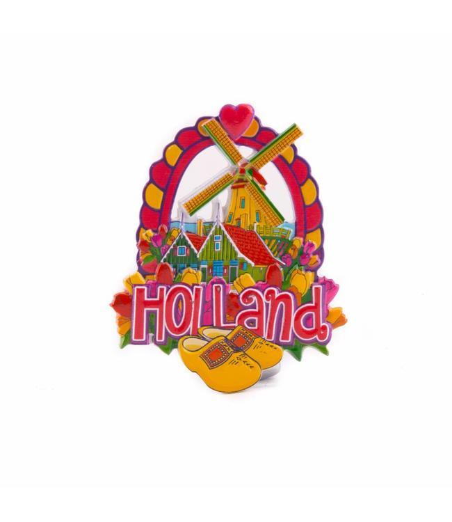 12 stuks magneet polystone dorp klompen Holland