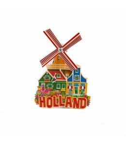 12 stuks magneet polystone molen rood Holland