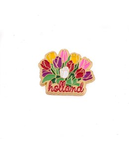 12 stuks pin tulpenbos Holland goud
