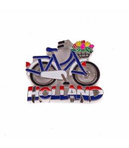 12 stuks magneet metaal fiets wit/blauw Holland