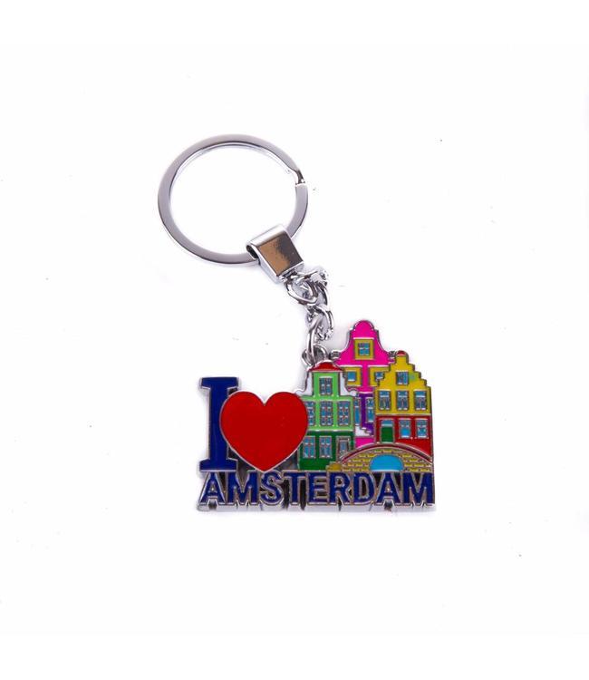 12 stuks sleutelhanger gracht I love Amsterdam