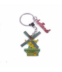 12 stuks sleutelhanger gekleurde molen Holland