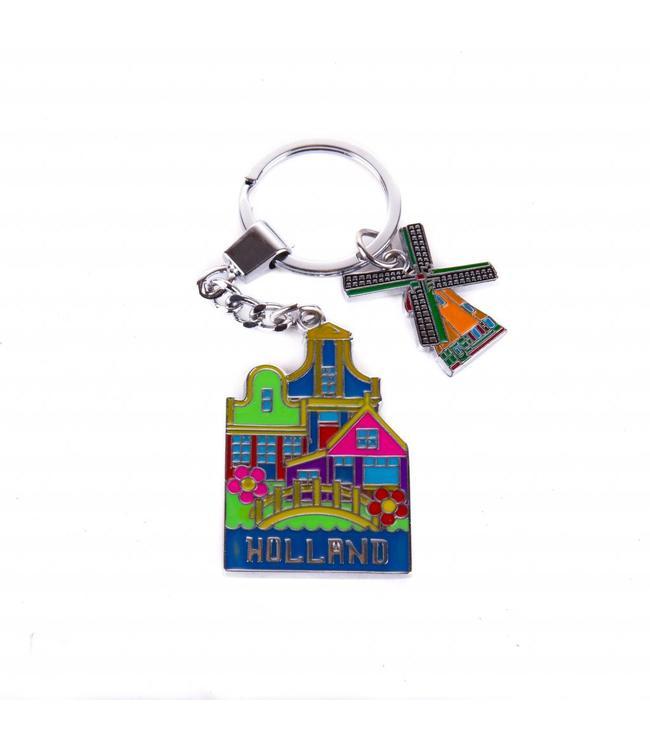 12 stuks sleutelhanger 3 huisjes Holland