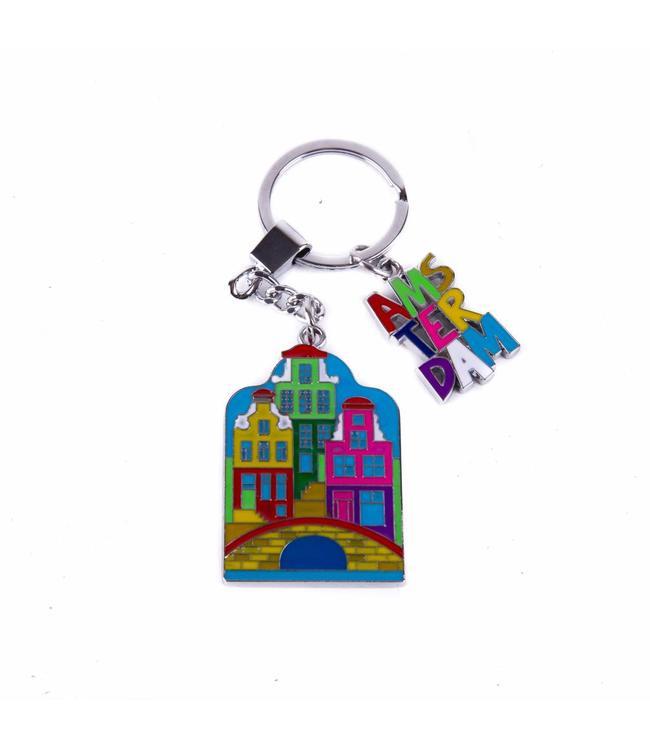 12 stuks sleutelhanger 3 huisjes Amsterdam