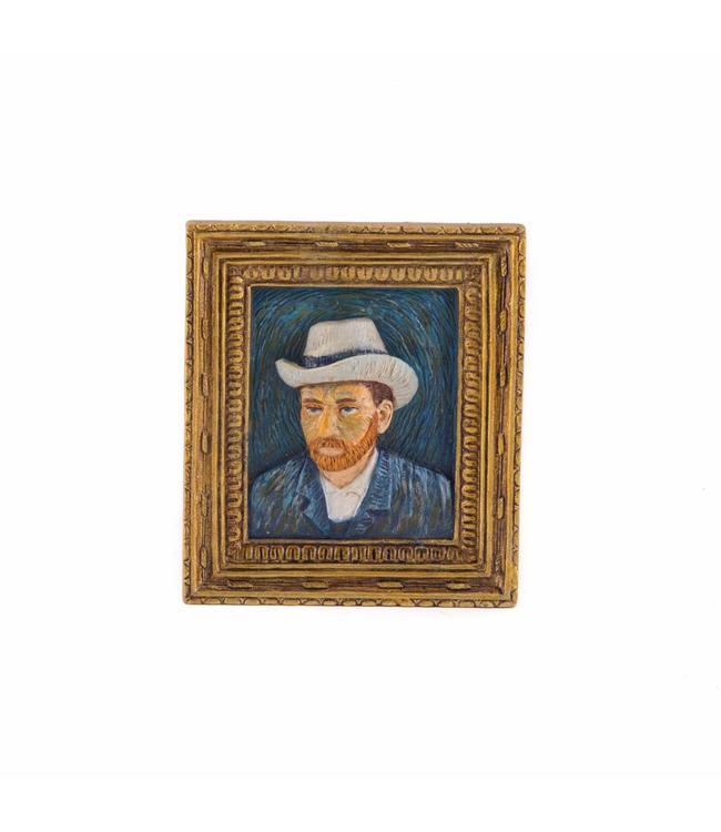 12 stuks magneet polystone Zelfportret - Vincent van Gogh