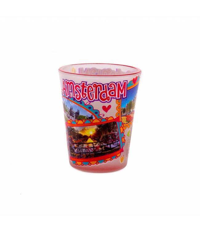 6 stuks shotglas love Amsterdam