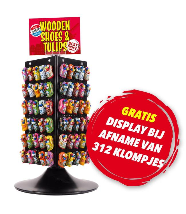 312 klompjes = GRATIS display