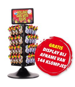 144 klompjes = GRATIS display