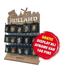 168 pins = GRATIS display