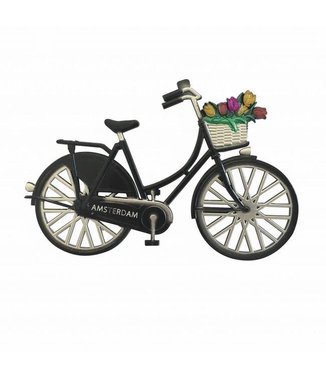 12 stuks magneet metaal fiets zwart Amsterdam