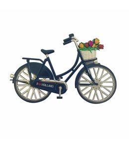 12 stuks magneet metaal fiets blauw  Holland