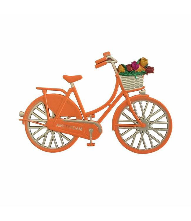 12 stuks magneet metaal fiets Oranje Amsterdam