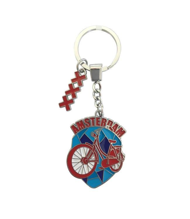 12 stuks sleutelhanger fiets rood moza��ek Amsterdam