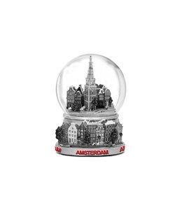 waterbol metaal 10 cm stadstafereel Amsterdam