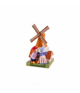 molen met kuspaar 10 cm color Holland