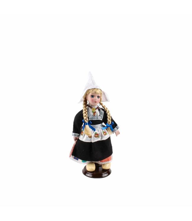 Pop porselein vrouw boezel zwart 20 cm