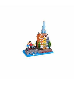 Tafereel gracht/brug/fiets Amsterdam
