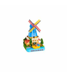 Tafereel 12 cm molen met klomp Holland