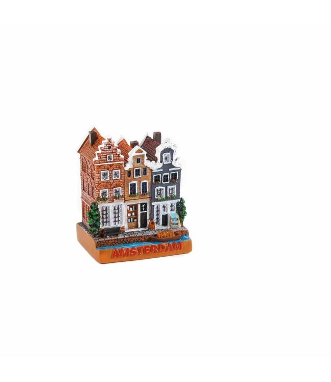 6 stuks Miniatuur 3D huizen Amsterdam 5 cm