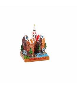 6 stuks Miniatuur 3D stadstafereel Amsterdam 5 cm